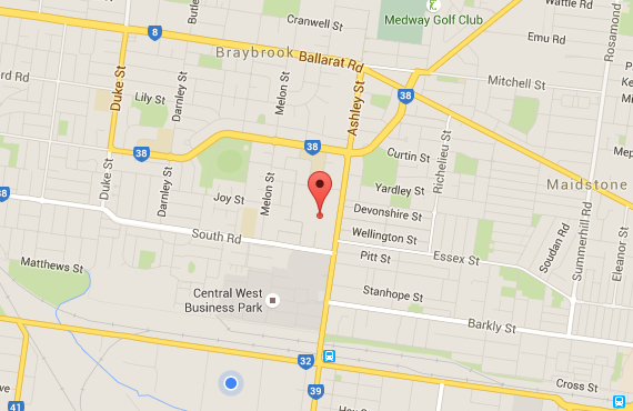 google map of cheap stone benchtops Melbourne