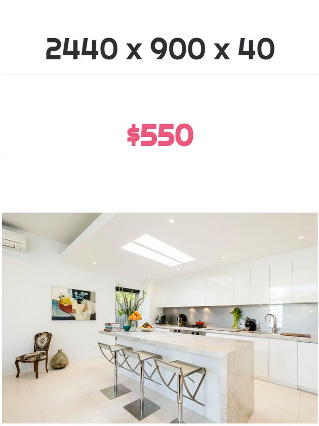 stone benchtops Melbourne price $550
