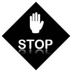 stop sign before buying the stone benchtops in Melbourne